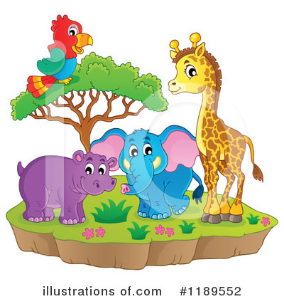 Royalty-Free (RF) Wildlife Clipart Illustration by visekart - Stock Sample #1189552