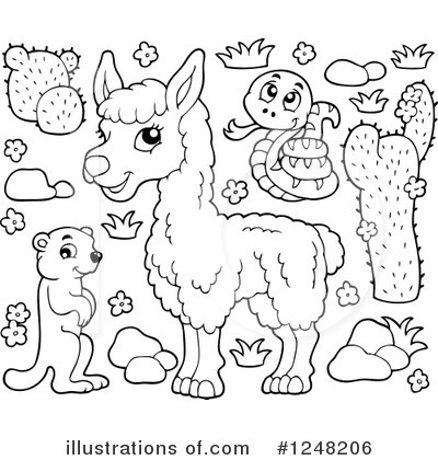 Llama Clipart #442026 - Illustration by toonaday