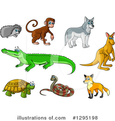 Crocodile Clipart #1295198 by Vector Tradition SM