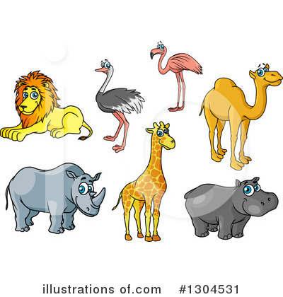 Hippo Clipart #1304531 by Vector Tradition SM