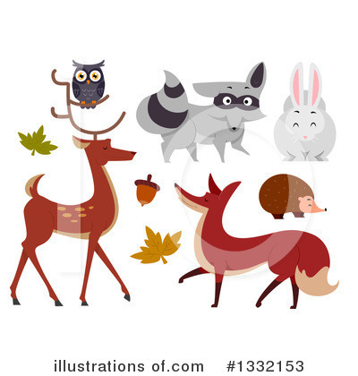 Fox Clipart #1332153 by BNP Design Studio