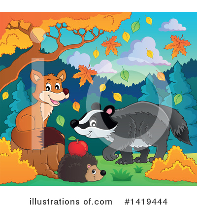 Hedgehog Clipart #1419444 by visekart