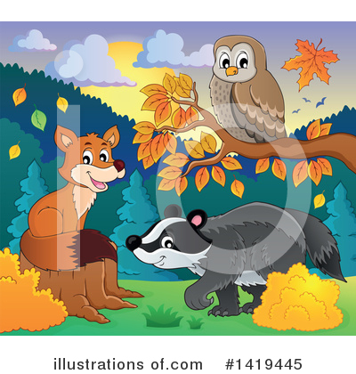 Honey Badger Clipart #1419445 by visekart