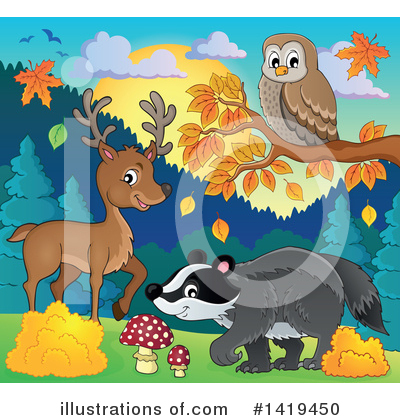 Badger Clipart #1419450 by visekart