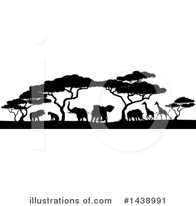 Rhinoceros Clipart #1438991 by AtStockIllustration