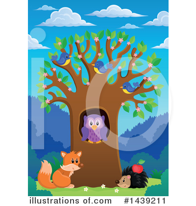 Royalty-Free (RF) Wildlife Clipart Illustration by visekart - Stock Sample #1439211