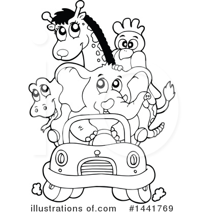 Driving Clipart #1441769 by visekart