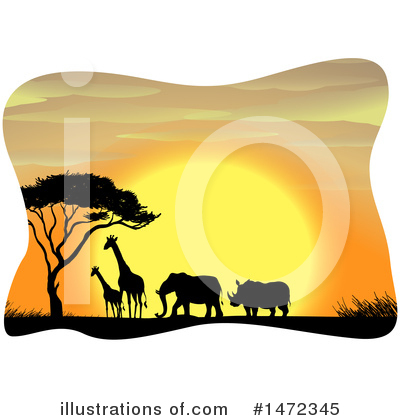 Elephant Clipart #1472345 by Graphics RF