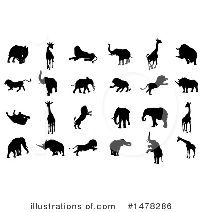 Rhino Clipart #1478286 by AtStockIllustration