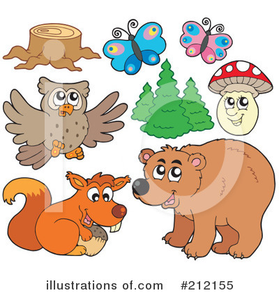 Forest Animals Clipart #212155 by visekart