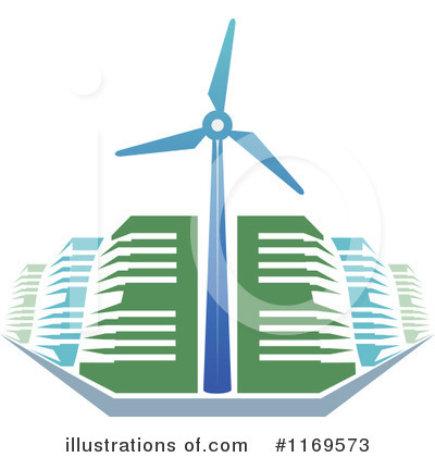 Wind Turbine Clipart #1169573 by Vector Tradition SM