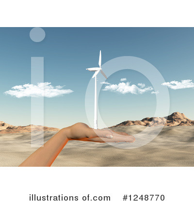 Wind Turbine Clipart #1248770 by KJ Pargeter