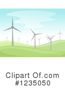 Royalty-Free (RF) Wind Farm Clipart Illustration #1235050
