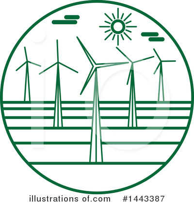 Wind Turbine Clipart #1443387 by ColorMagic