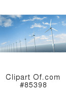 Royalty-Free (RF) Wind Power Clipart Illustration #85398
