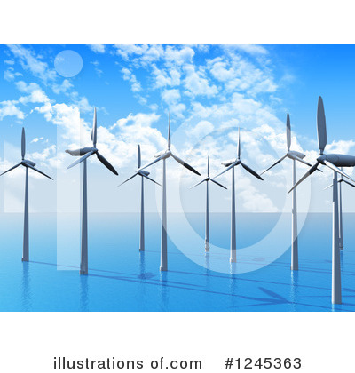 Wind Energy Clipart #1245363 by KJ Pargeter