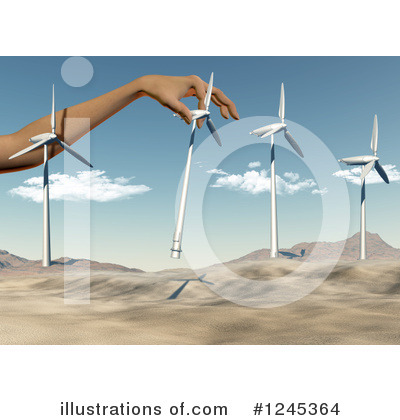 Wind Turbine Clipart #1245364 by KJ Pargeter
