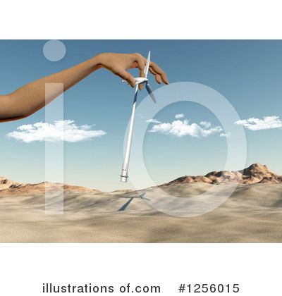 Wind Turbine Clipart #1256015 by KJ Pargeter