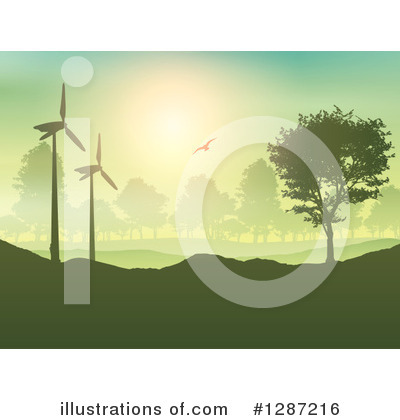 Wind Turbine Clipart #1287216 by KJ Pargeter