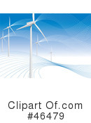 Royalty-Free (RF) wind turbine Clipart Illustration #46479