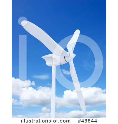 Wind Turbine Clipart #46644 by KJ Pargeter