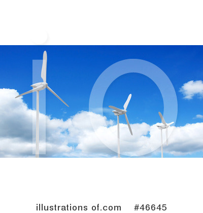 Royalty-Free (RF) Wind Turbine Clipart Illustration by KJ Pargeter - Stock Sample #46645
