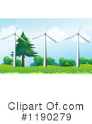 Wind Turbines Clipart #1190279 by Graphics RF