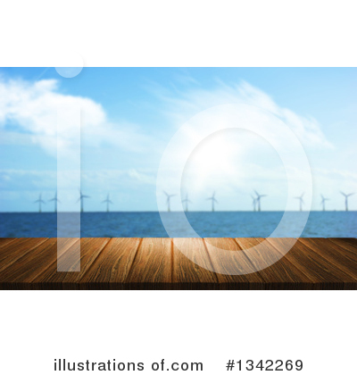 Wind Turbine Clipart #1342269 by KJ Pargeter