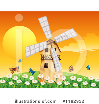 Windmill Clipart #1192932 by Graphics RF