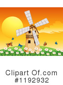 Royalty-Free (RF) Windmill Clipart Illustration #1192932