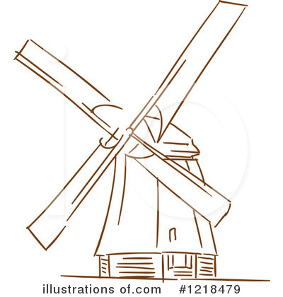 Windmill Clipart #1218479 - Illustration by Vector Tradition SM