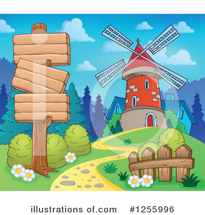 Windmill Clipart #1255996 by visekart