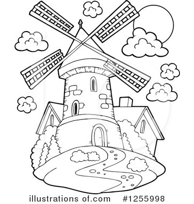 Windmill Clipart #1255998 by visekart