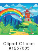 Royalty-Free (RF) Windmill Clipart Illustration #1257885