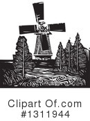 Royalty-Free (RF) Windmill Clipart Illustration #1311944