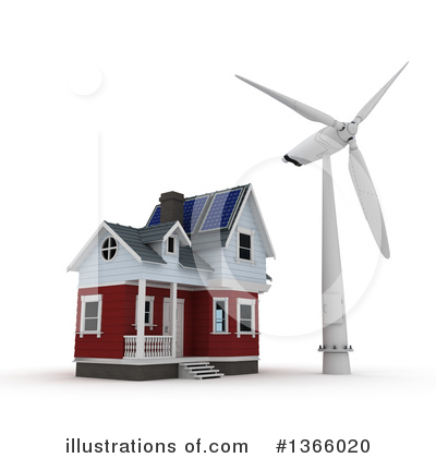 Wind Turbine Clipart #1366020 by KJ Pargeter