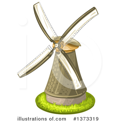 Windmill Clipart #1373319 by merlinul