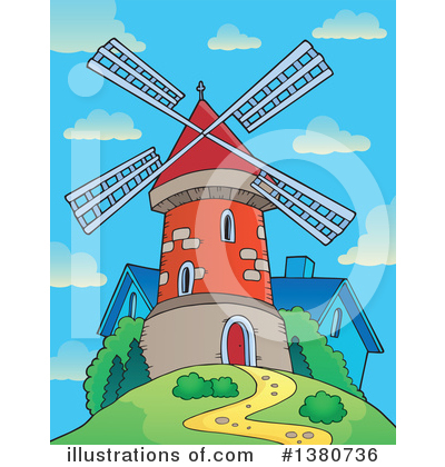 Windmill Clipart #1380736 by visekart