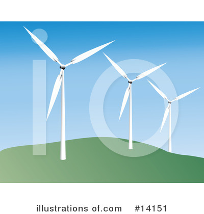 Royalty-Free (RF) Windmill Clipart Illustration by Rasmussen Images - Stock Sample #14151