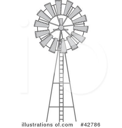Windmill Clipart #42786 - Illustration by Dennis Holmes Designs