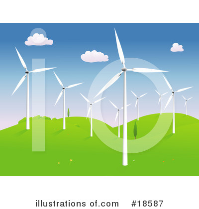 Royalty-Free (RF) Windmills Clipart Illustration by Rasmussen Images - Stock Sample #18587