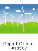 Royalty-Free (RF) Windmills Clipart Illustration #18587