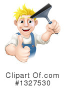 Royalty-Free (RF) Window Cleaner Clipart Illustration #1327530