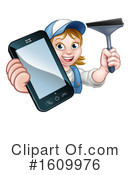 Window Cleaner Clipart #1609976 by AtStockIllustration