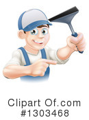 Royalty-Free (RF) Window Washer Clipart Illustration #1303468