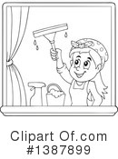 Royalty-Free (RF) Window Washer Clipart Illustration #1387899