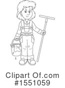 Royalty-Free (RF) Window Washer Clipart Illustration #1551059