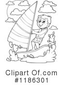 Royalty-Free (RF) Windsurfing Clipart Illustration #1186301