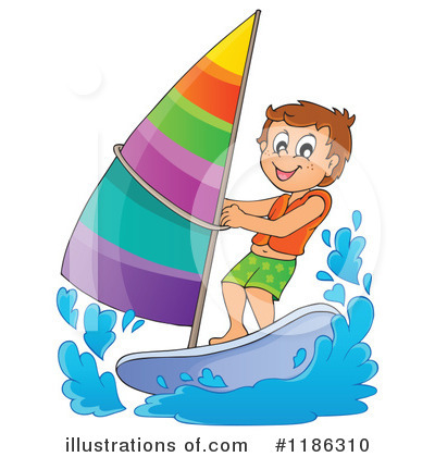 Royalty-Free (RF) Windsurfing Clipart Illustration by visekart - Stock Sample #1186310
