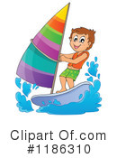 Royalty-Free (RF) Windsurfing Clipart Illustration #1186310